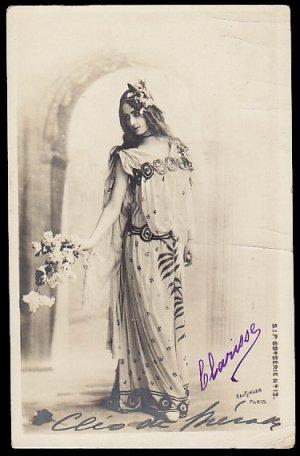 画像1: Antique Postcard/アンティーク・ポストカード【Cleo de Merode】クレオ・ド・メロード