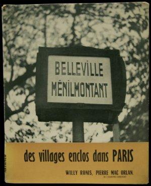 画像1: 再入荷 Willy Ronis/ウィリー・ロニ【BELLEVILLE MENILMONTANT】帯付き